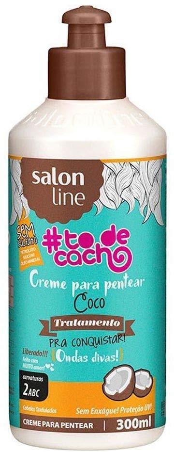 Salon Line Creme para Pentear #TodeCacho Coco Tratamento Para Conquistar 300ml