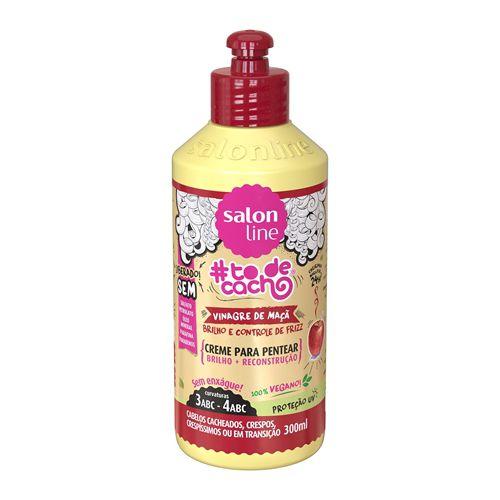 Salon Line Creme para Pentear #TodeCacho Vinagre de Maçã 300ml