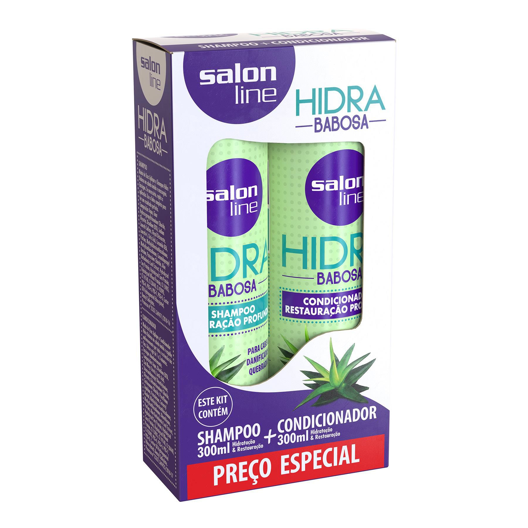 Salon Line Kit Shampoo + Condicionador Hidra Babosa 300mL + 300mL