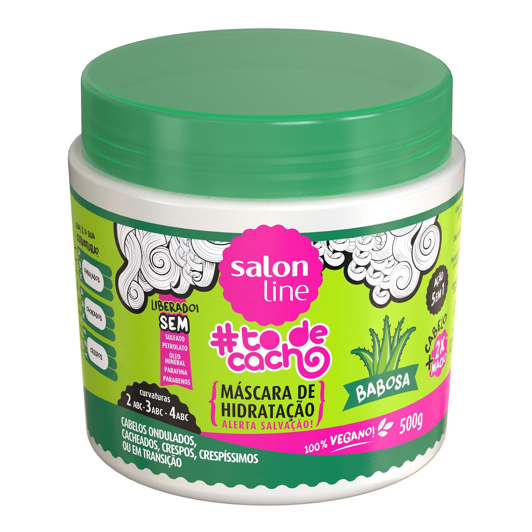 Salon Line Máscara #To de Cacho Babosa Hidratação Tratamento Para Divar 500g