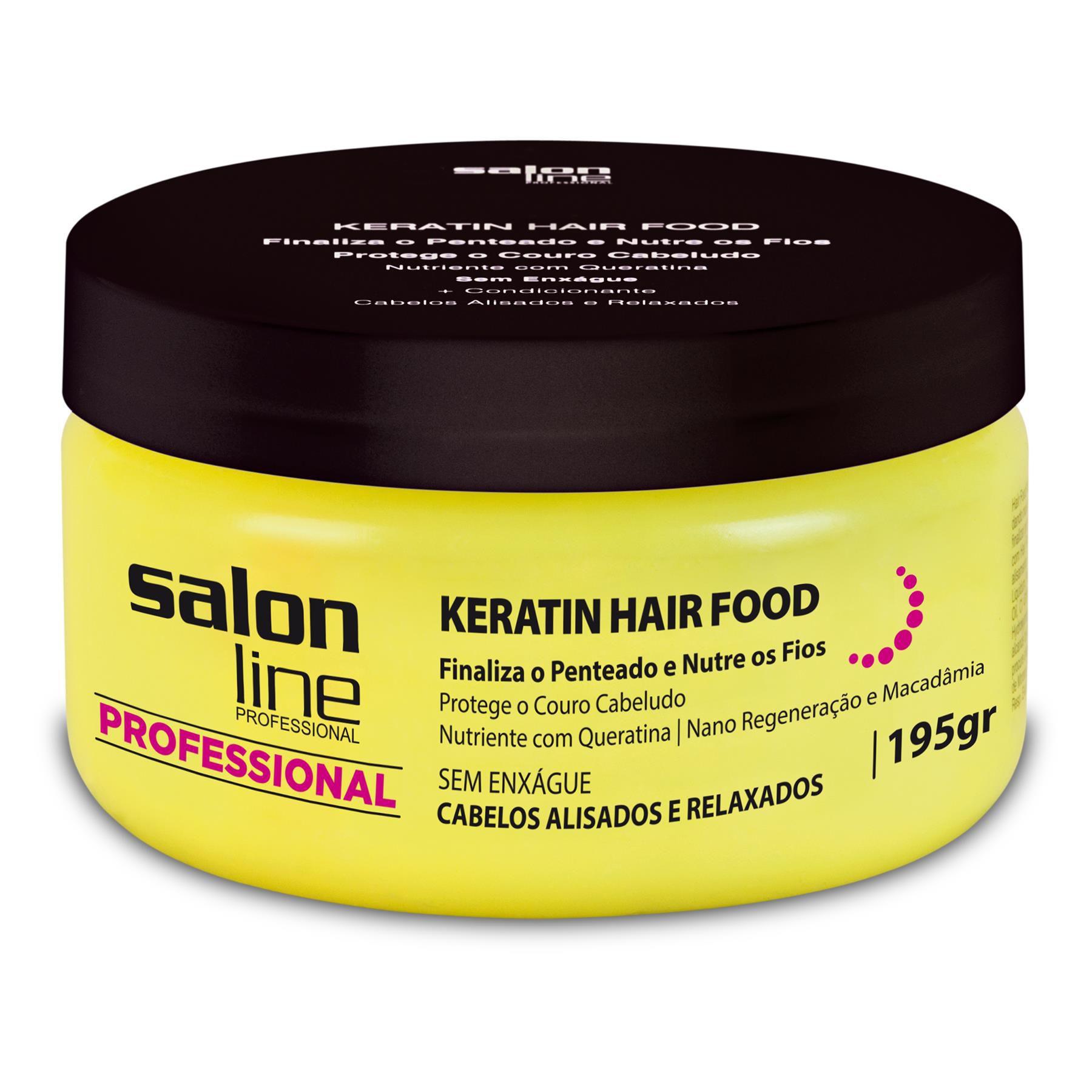 Salon Line Pomada Hair Food Keratin 195g