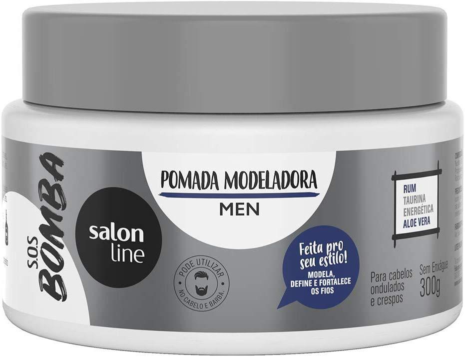 Salon Line Pomada Modeladora S.O.S Bomba Men 300g