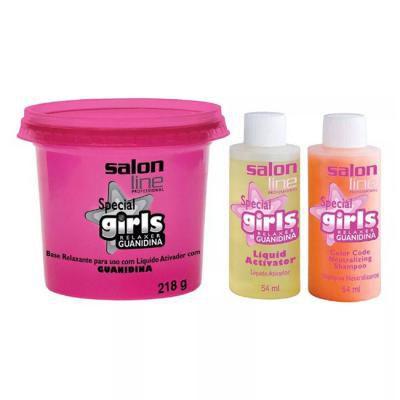 Salon Line Professional Spacial Girls Relaxer Guanidina Alisa e Relaxa