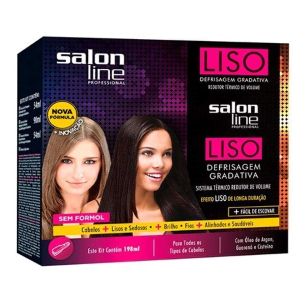 Salon Line Progressiva Kit Defrisagem Gradativa Liso 188mL