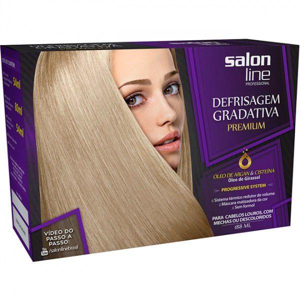 Salon Line Progressiva Kit Defrisagem Gradativa Premium 188mL