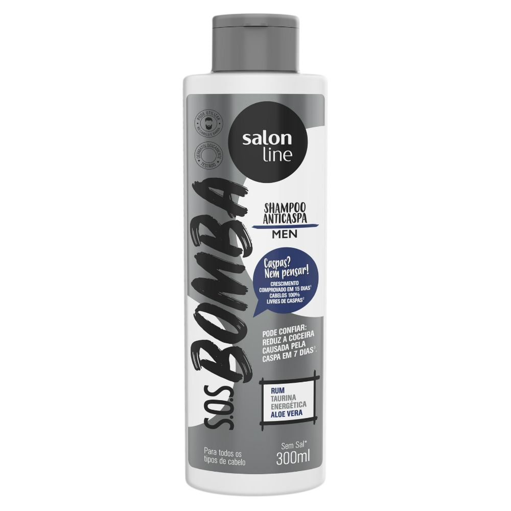 Salon Line Shampoo S.O.S Bomba Anticaspa Man 300ml