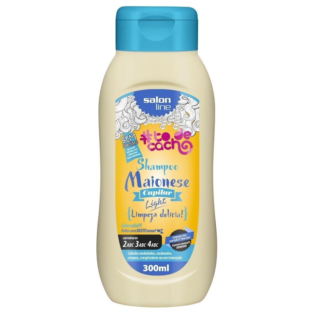 Salon Line Shampoo #TodeCacho Maionese Capilar Light 300ml