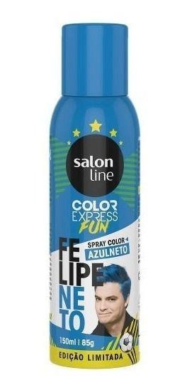 Salon Line Spray Color Express Fun Azulneto 150ml