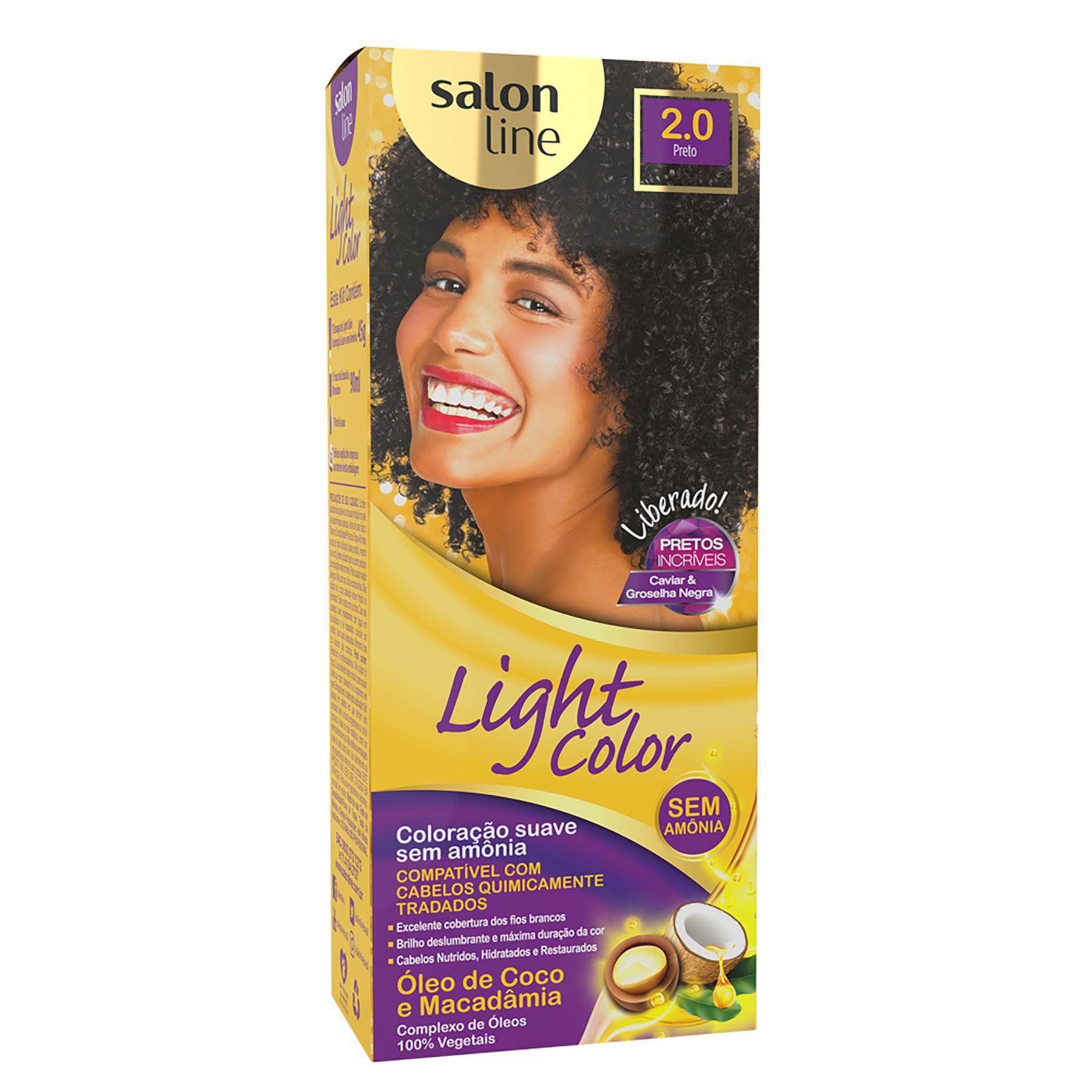Salon Line Tonalizante Light Color 2.0 Preto