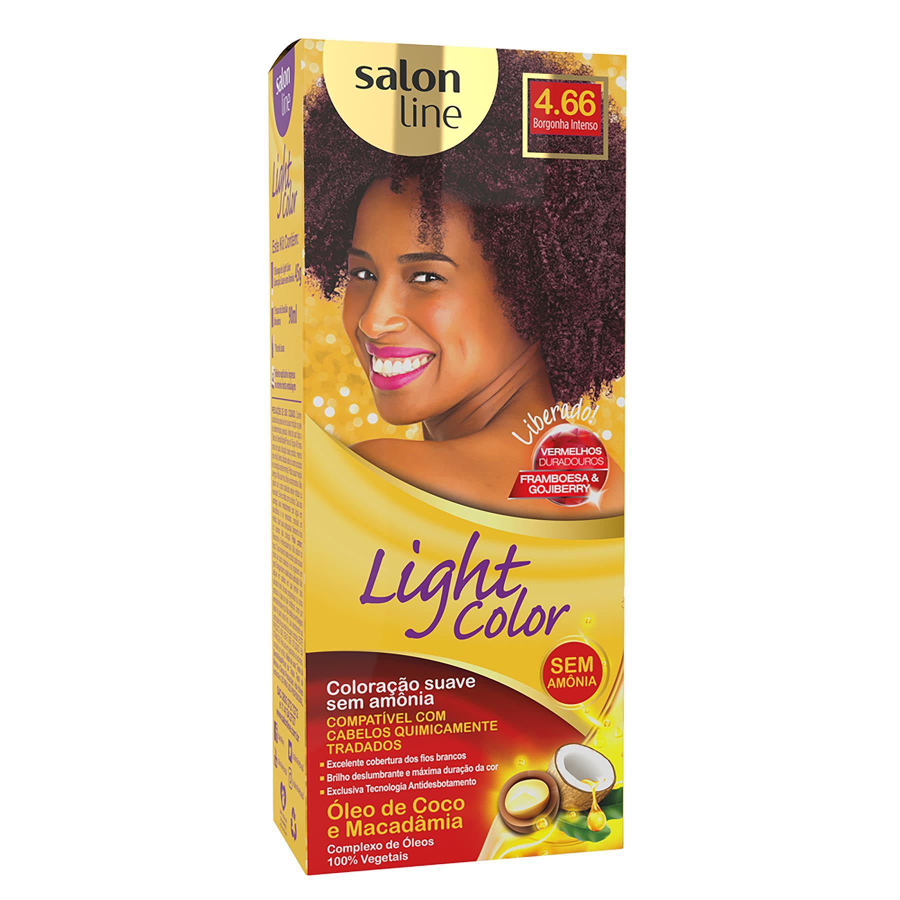 Salon Line Tonalizante Light Color 4.66 Borgonha Intenso