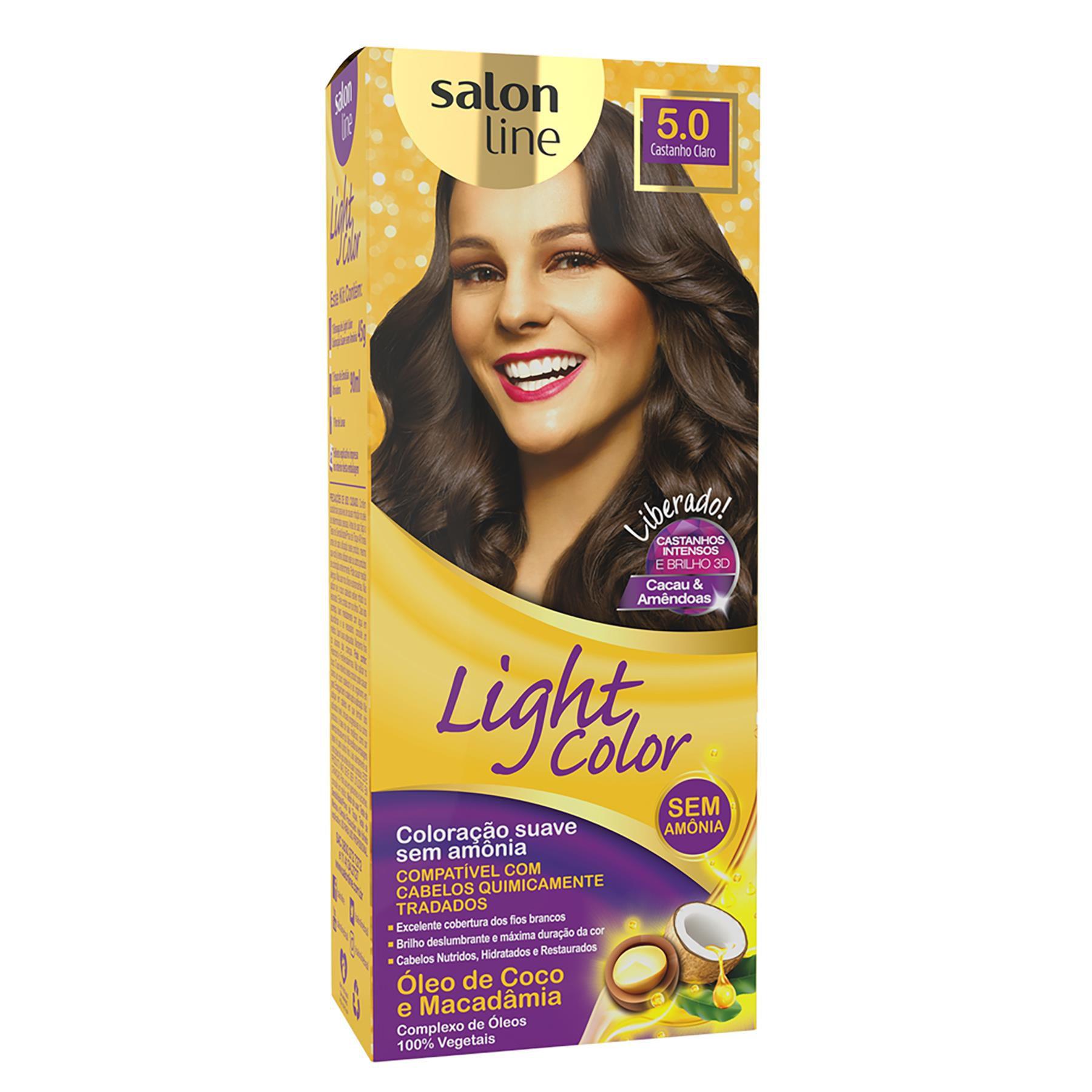 Salon Line Tonalizante Light Color 5.0 Castanho Claro
