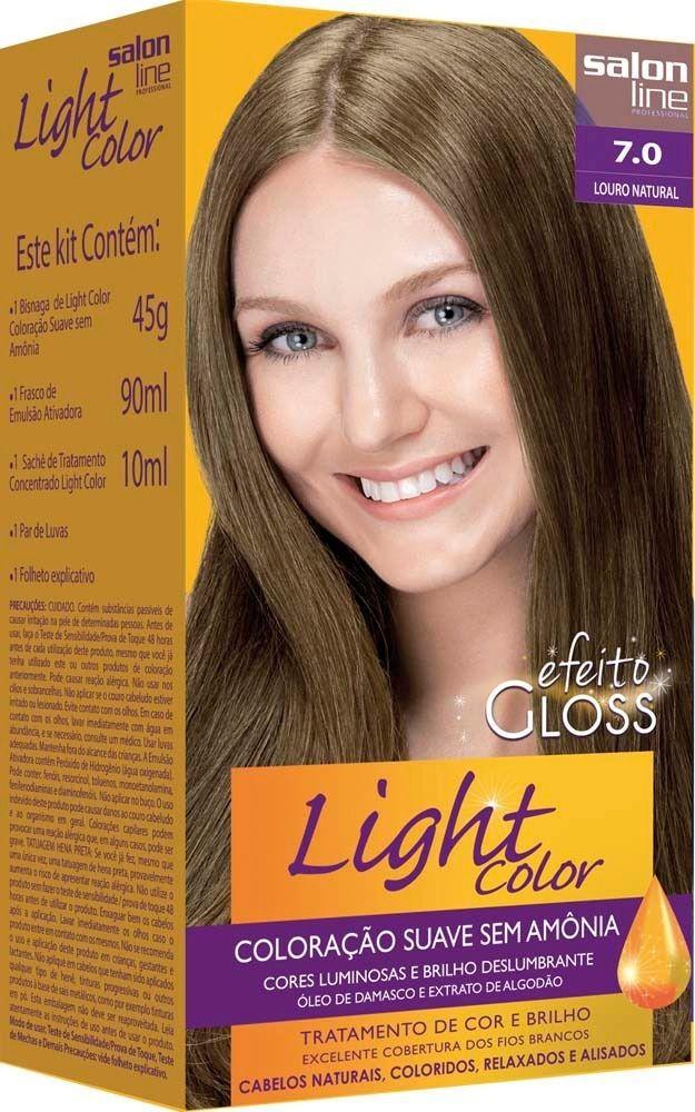 Salon Line Tonalizante Light Color 7.0 Louro Natural