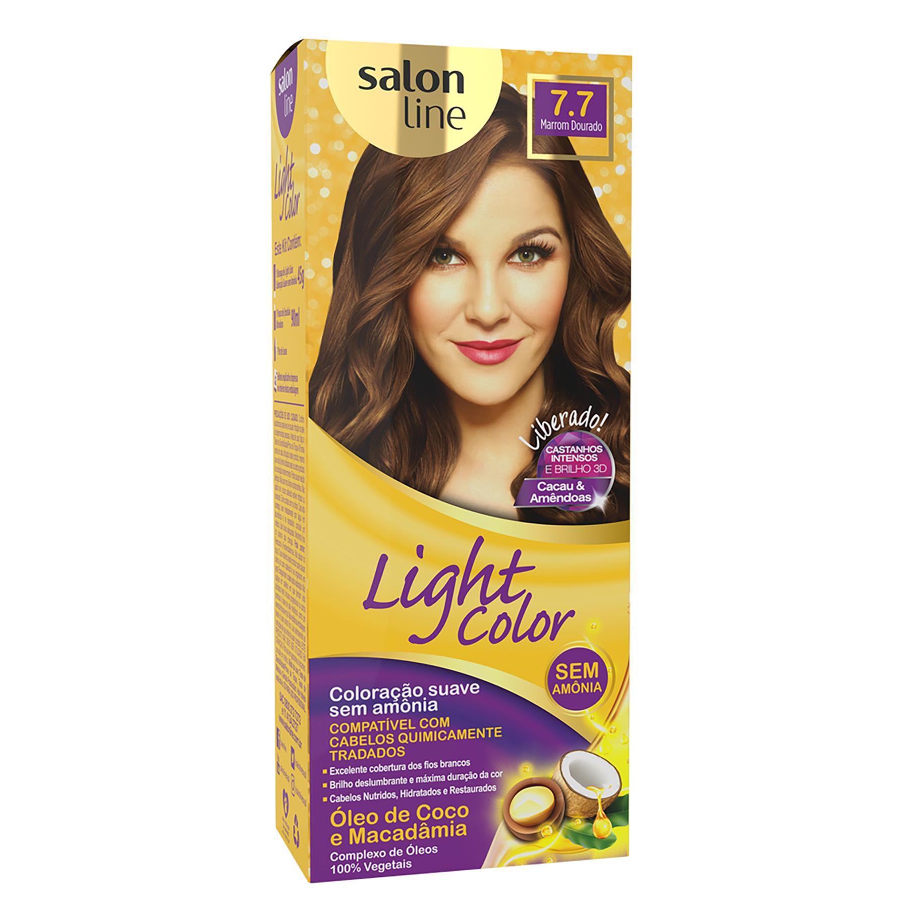 Salon Line Tonalizante Light Color 7.7 Marrom Dourado