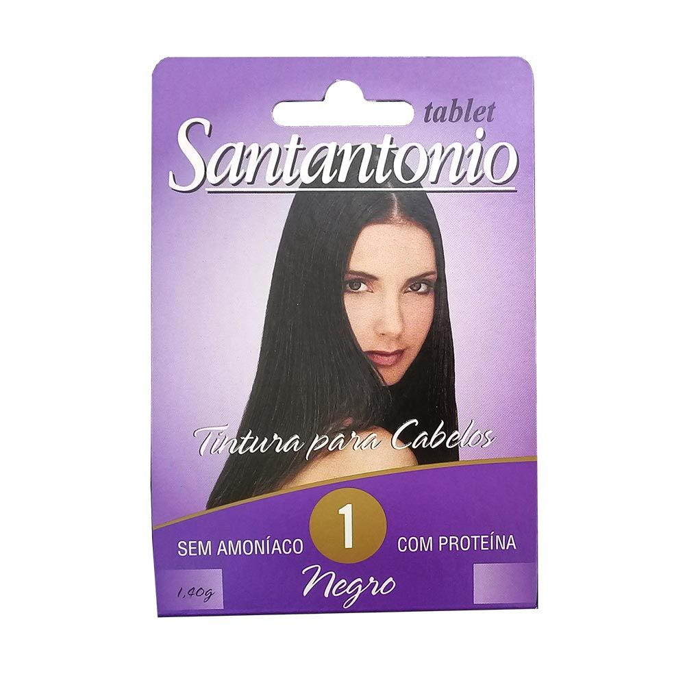 Santantonio Tablete Tonalizante 1 Negro 12 unidades