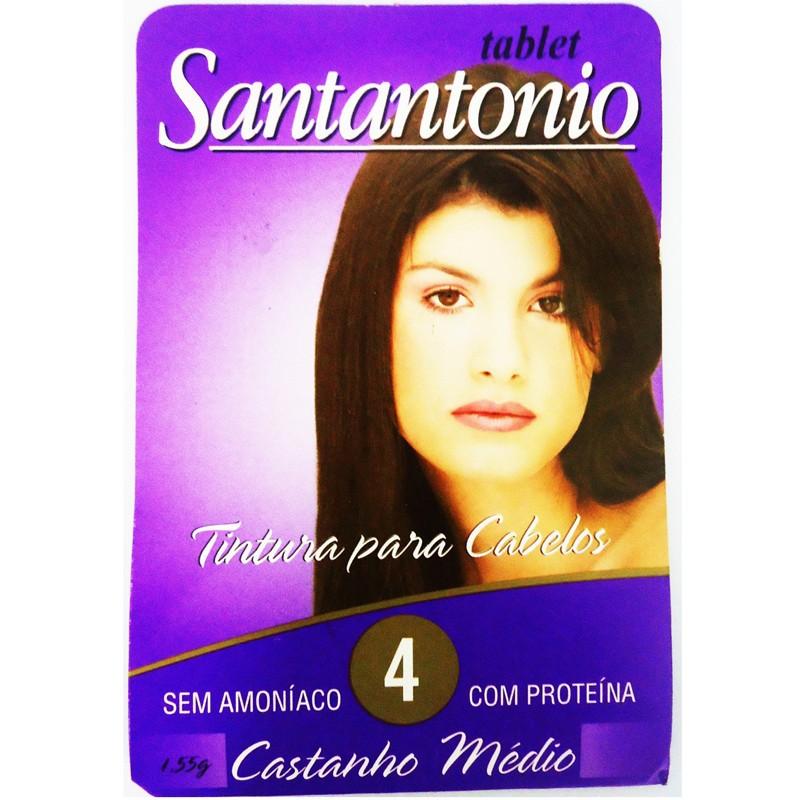 Santantonio Tablete Tonalizante 4 Castanho Médio - 1 unidade