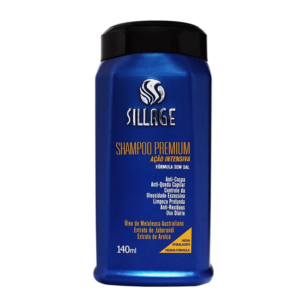Sillage Shampoo Premium Anti-caspa e Anti-queda 140mL