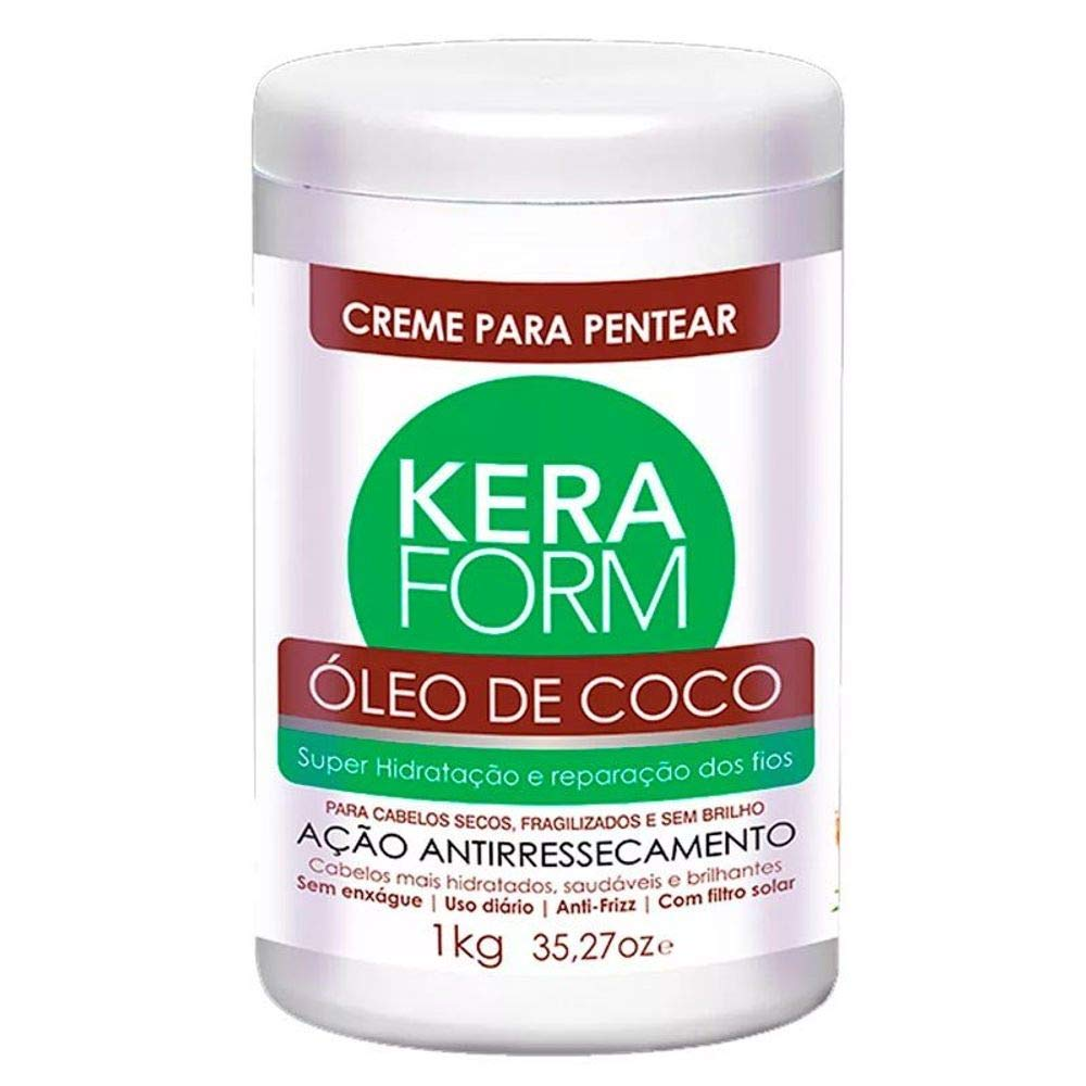 Skafe Creme para Pentear Keraform Óleo De Coco 1000g