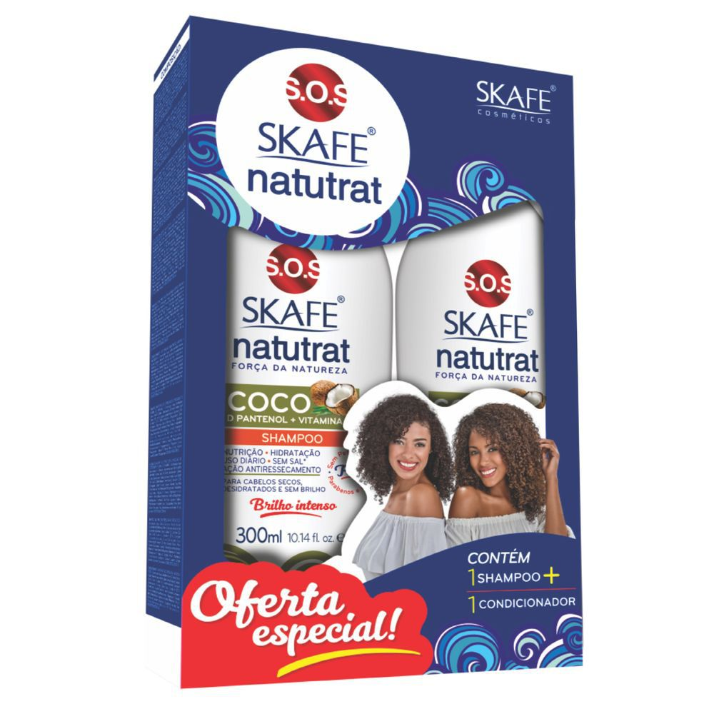 Skafe Kit Shampoo + Condicionador Natutrat 12em1 300+300mL