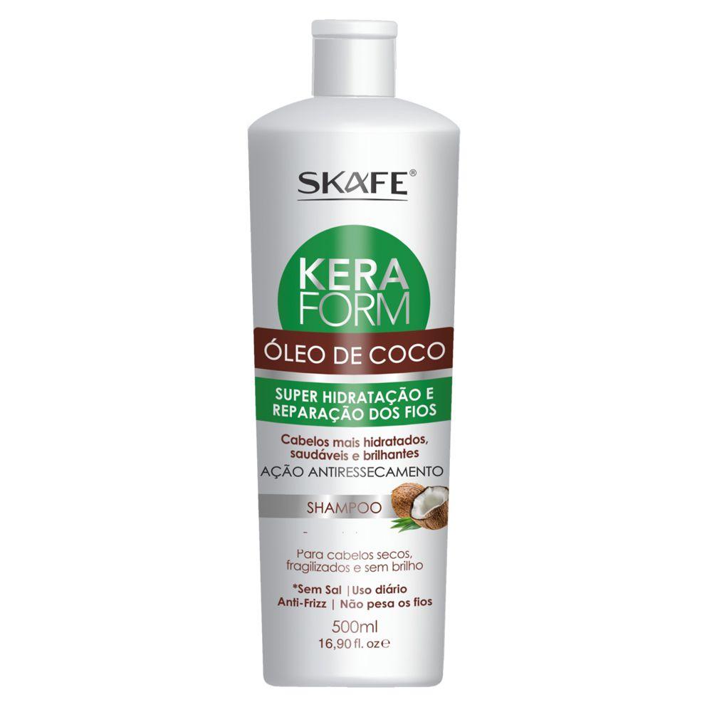 Skafe Shampoo Keraform Óleo de Coco 500mL