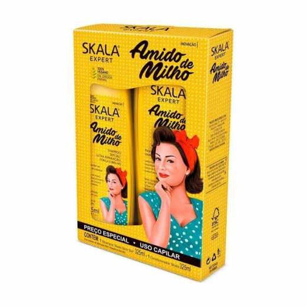 Skala Kit Shampoo+Condicionador Amido de Milho 350+350mL