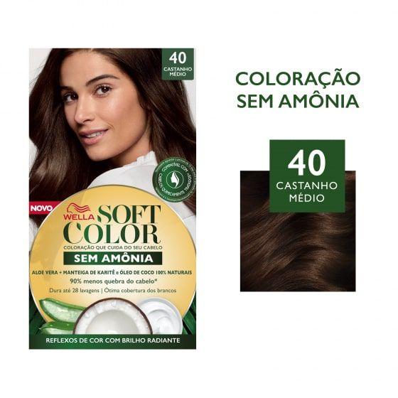Soft Color Tonalizante 40 Castanho Médio
