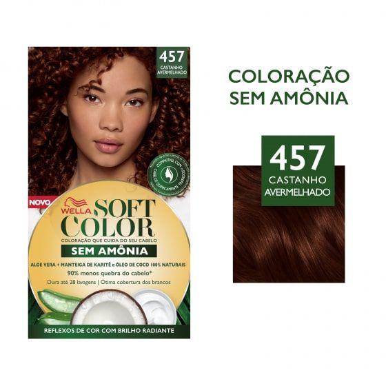 Soft Color Tonalizante 457 Castanho Avermelhado