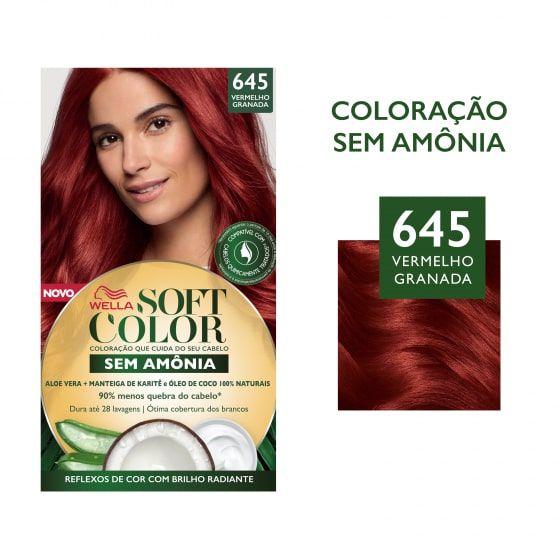 Soft Color Tonalizante 645 Vermelho Granada