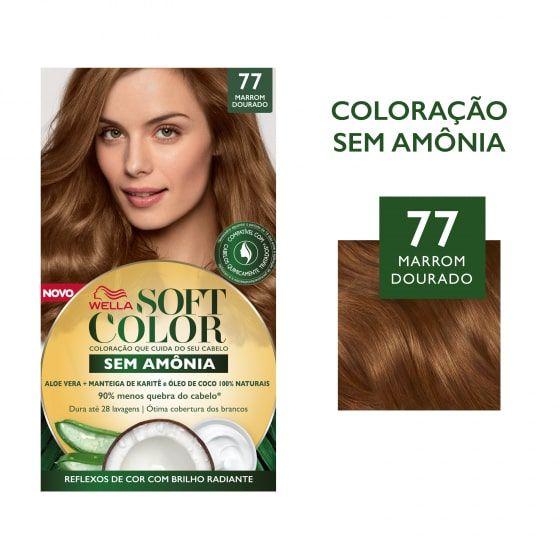 Soft Color Tonalizante 77 Marrom Dourado