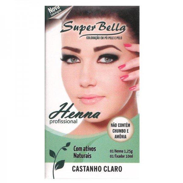 Super Bella Henna para Sobrancelha Castanho Claro 1,2g