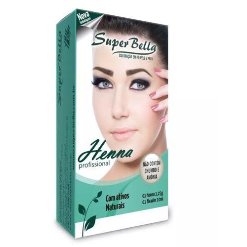 Super Bella Henna para Sobrancelha Louro Médio 1,2g