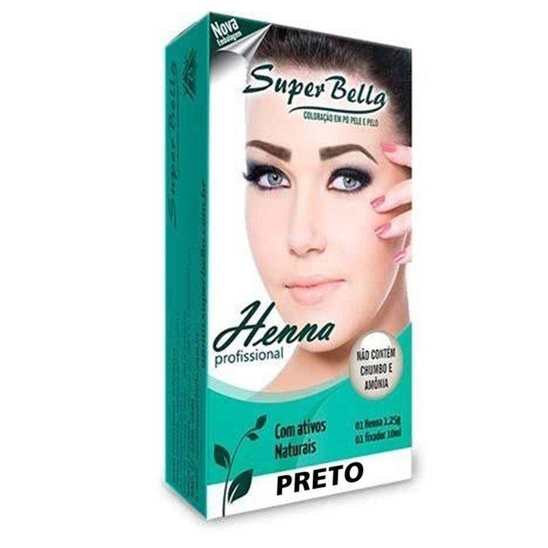 Super Bella Henna para Sobrancelha Preto 1,2g