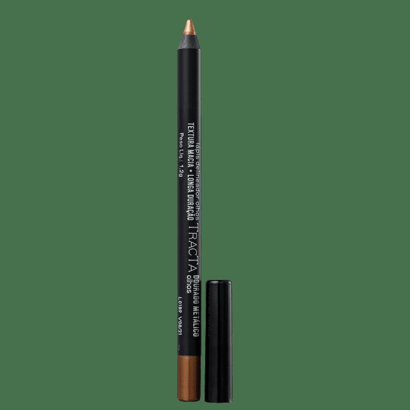 Tracta Lápis para Olhos Metálico Dourado 1,2g