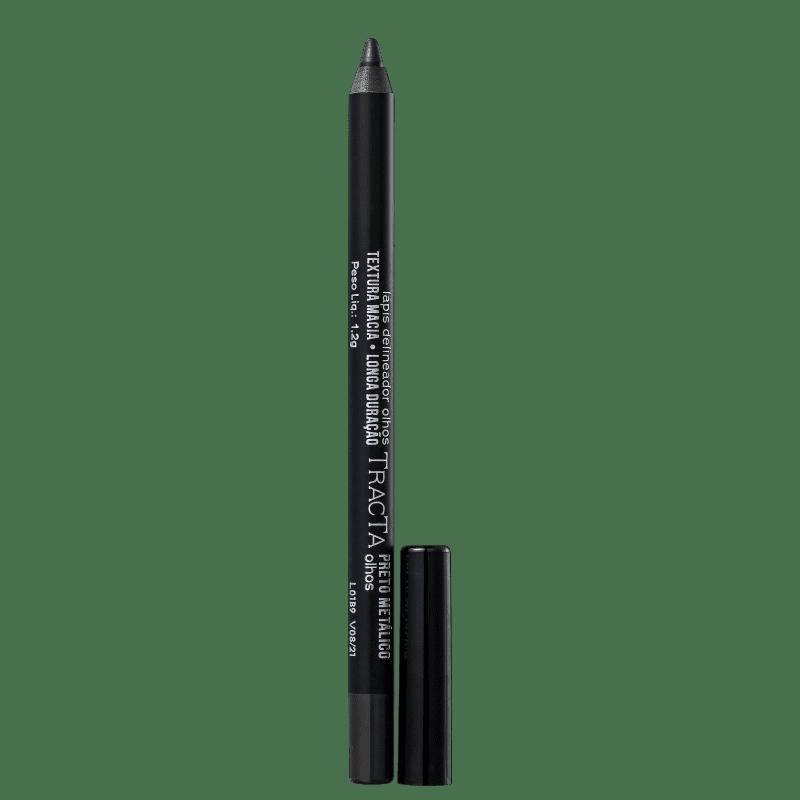 Tracta Lápis para Olhos Metálico Preto 1,2g