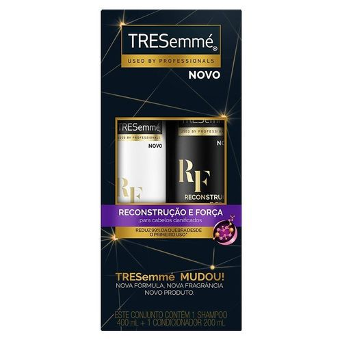 TRESemmé Kit Shampoo 400ml + Condicionador 200ml Reconstrução e Força 600mL