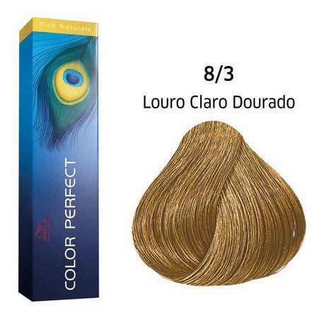 Wella Professional Coloração Permanente Color Perfect 8/3 Loiro Claro 60g