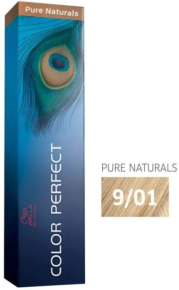 Wella Professional Coloração Permanente Color Perfect 9/01 Loiro 60g