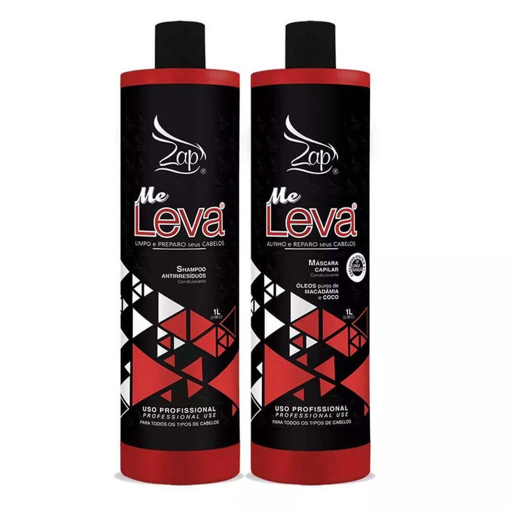 Zap Kit Progressiva Me Leva Shampoo 1L + Máscara 1L