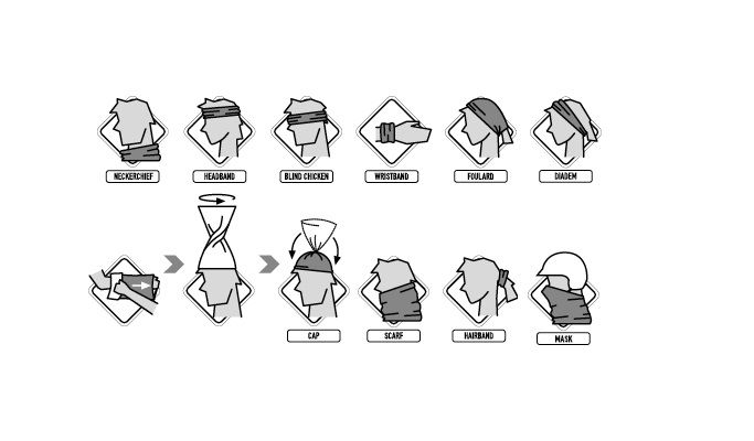 Bandana Tubular Tribos e Trilhas Hexagon