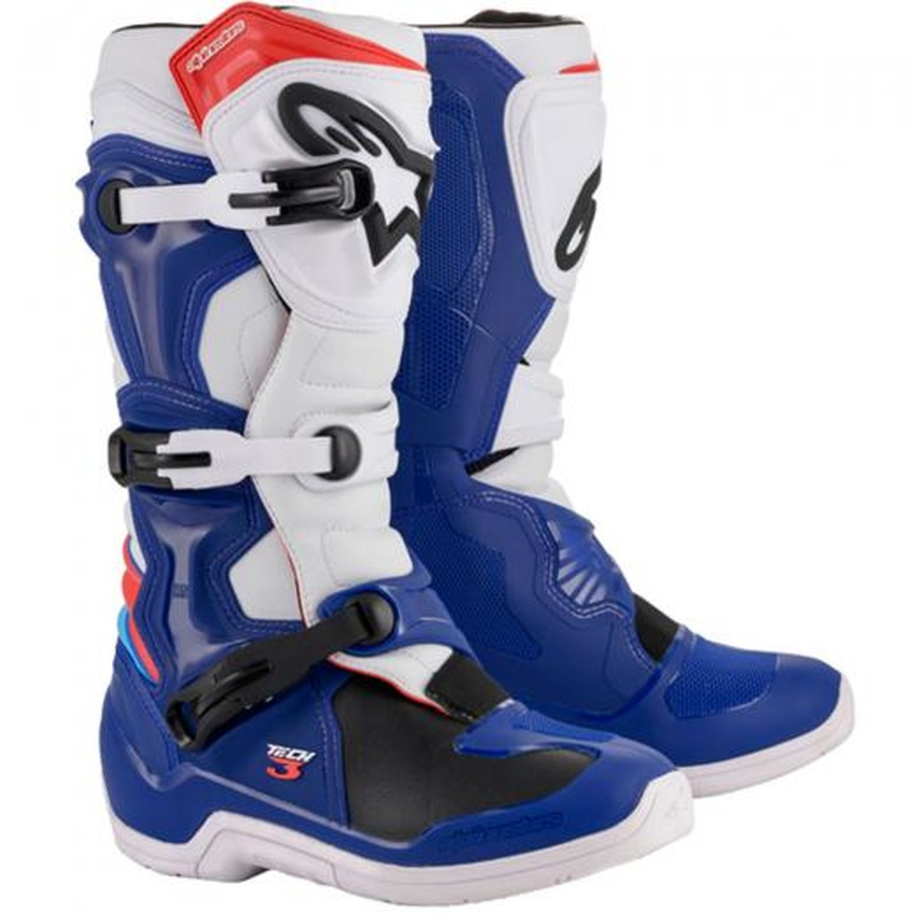 Bota Alpinestars Tech 3 - Azul/Branco
