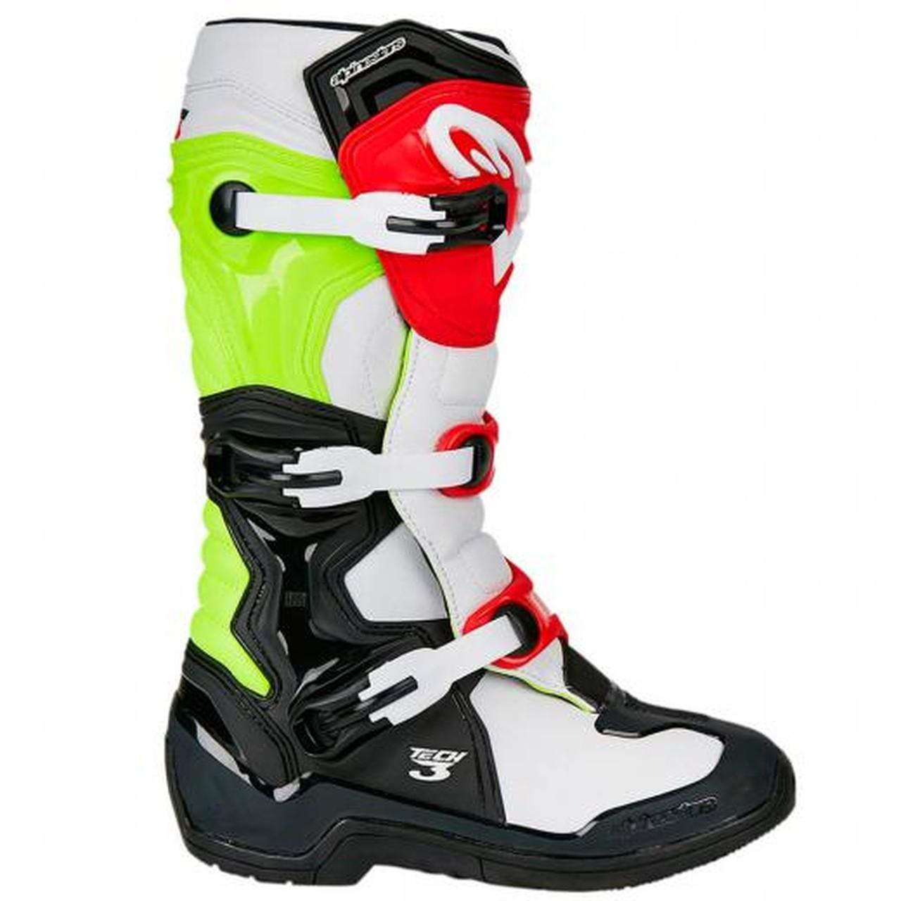 Bota Alpinestars Tech 3 - Preto/Branco/Vermelho