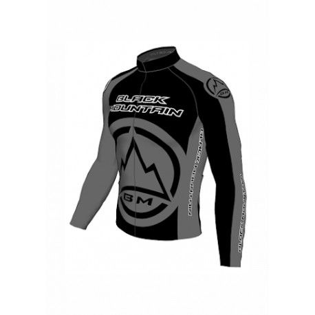 Camisa Bike Black Mountain Manga Longa