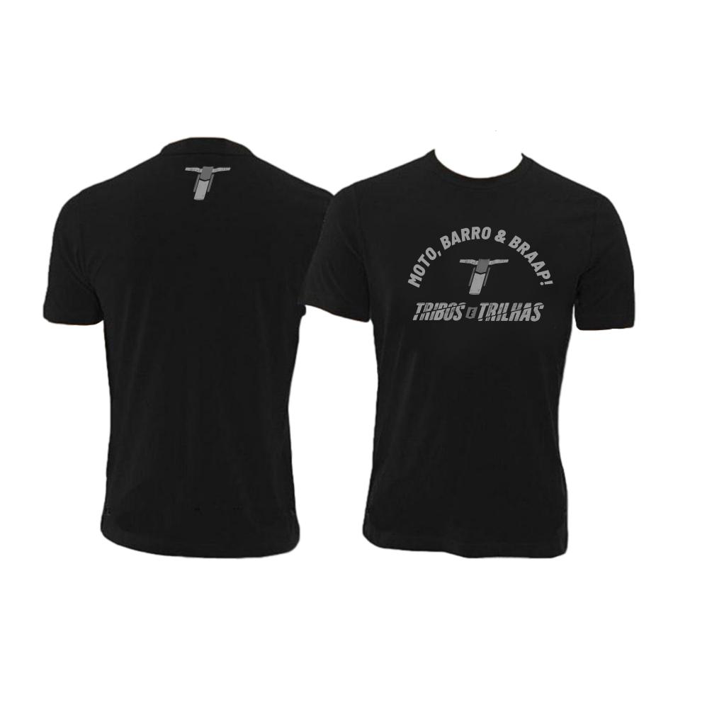 Camiseta Casual Tribos e Trilhas Moto, Barro & Braap!