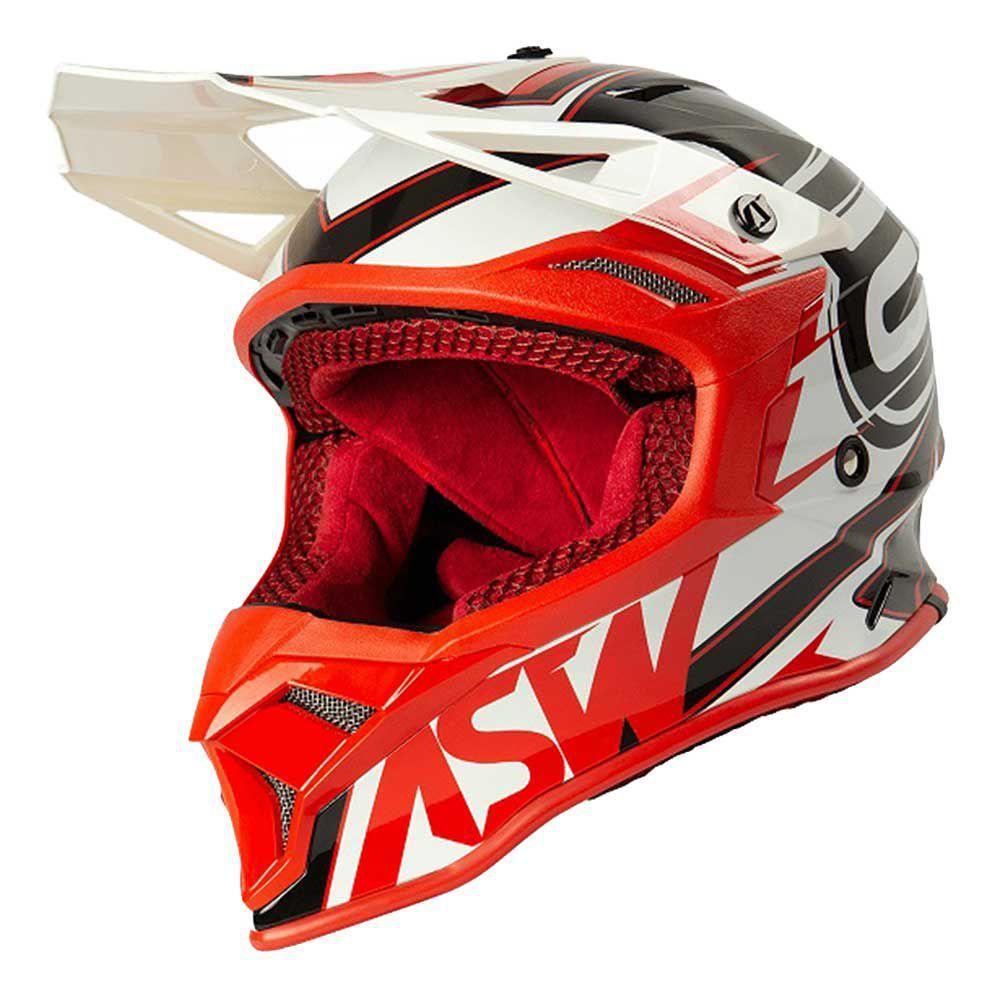Capacete ASW Fusion 2.0 Blade Vermelho/Branco/Preto