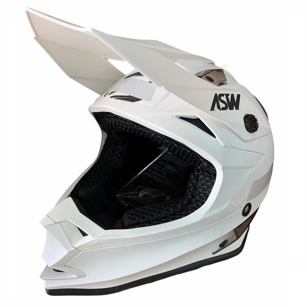 Capacete ASW Fusion Solid - Branco
