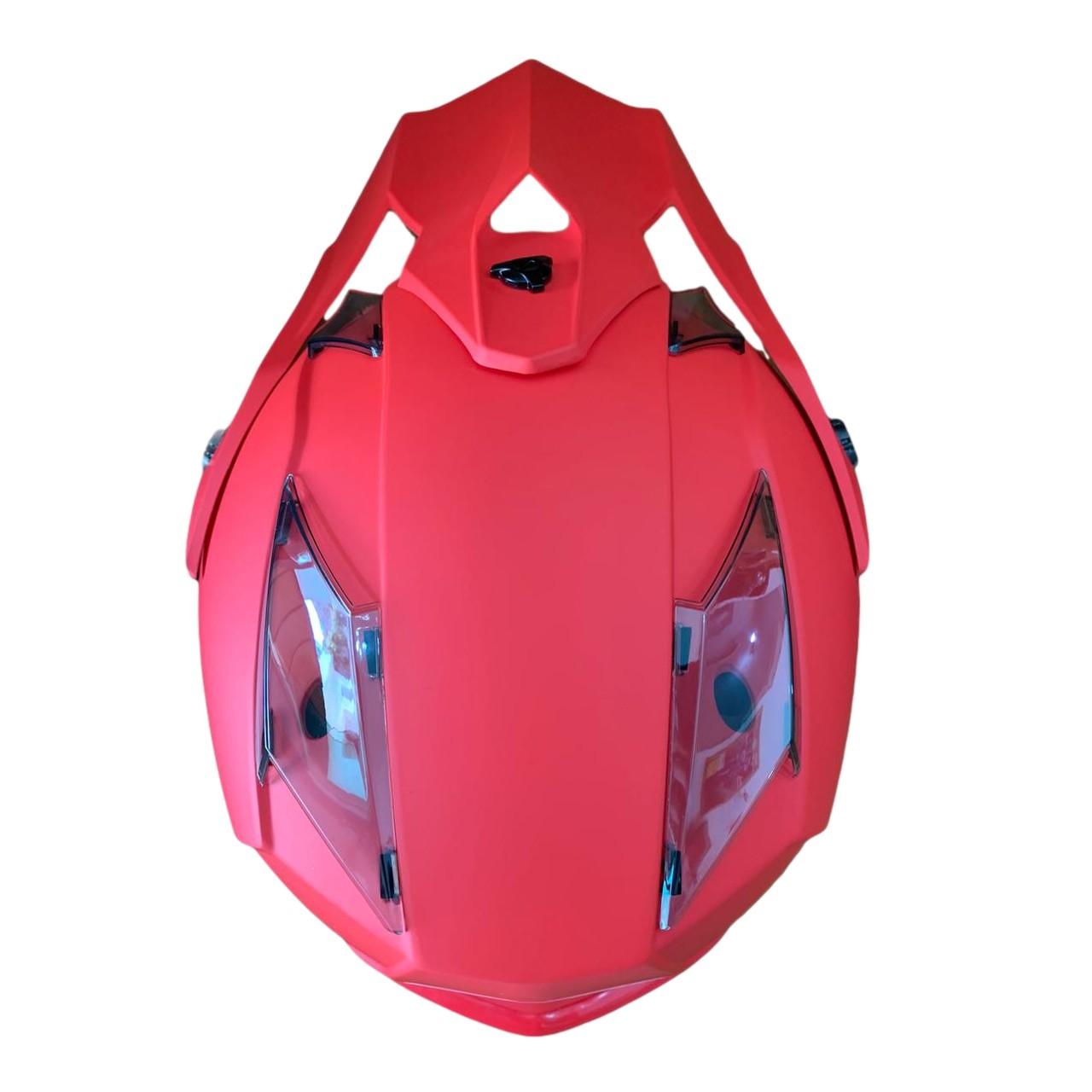 Capacete ASW Fusion Solid - Vermelho