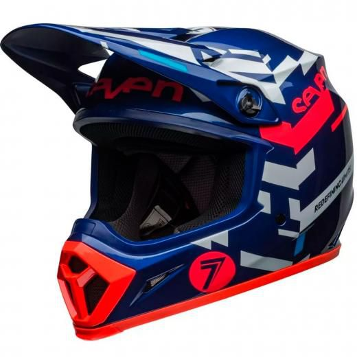 Capacete Bell MX9 Mips Seven Equalizer Azul