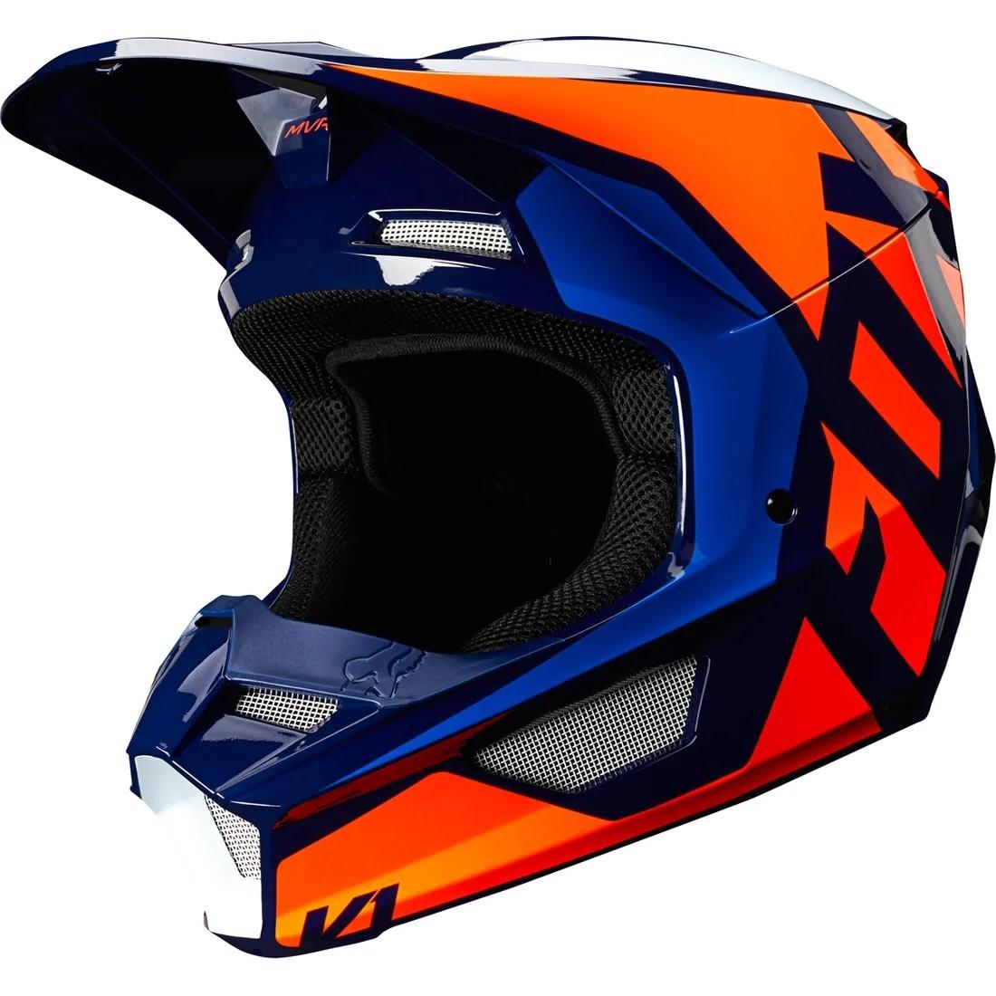 Capacete FOX V1 MVRS PRIX - Laranja/Azul