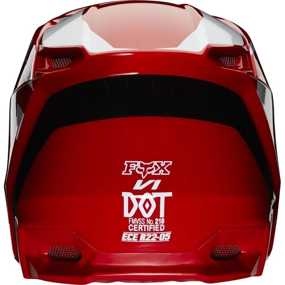 Capacete FOX V1 MVRS PRIX - Vermelho