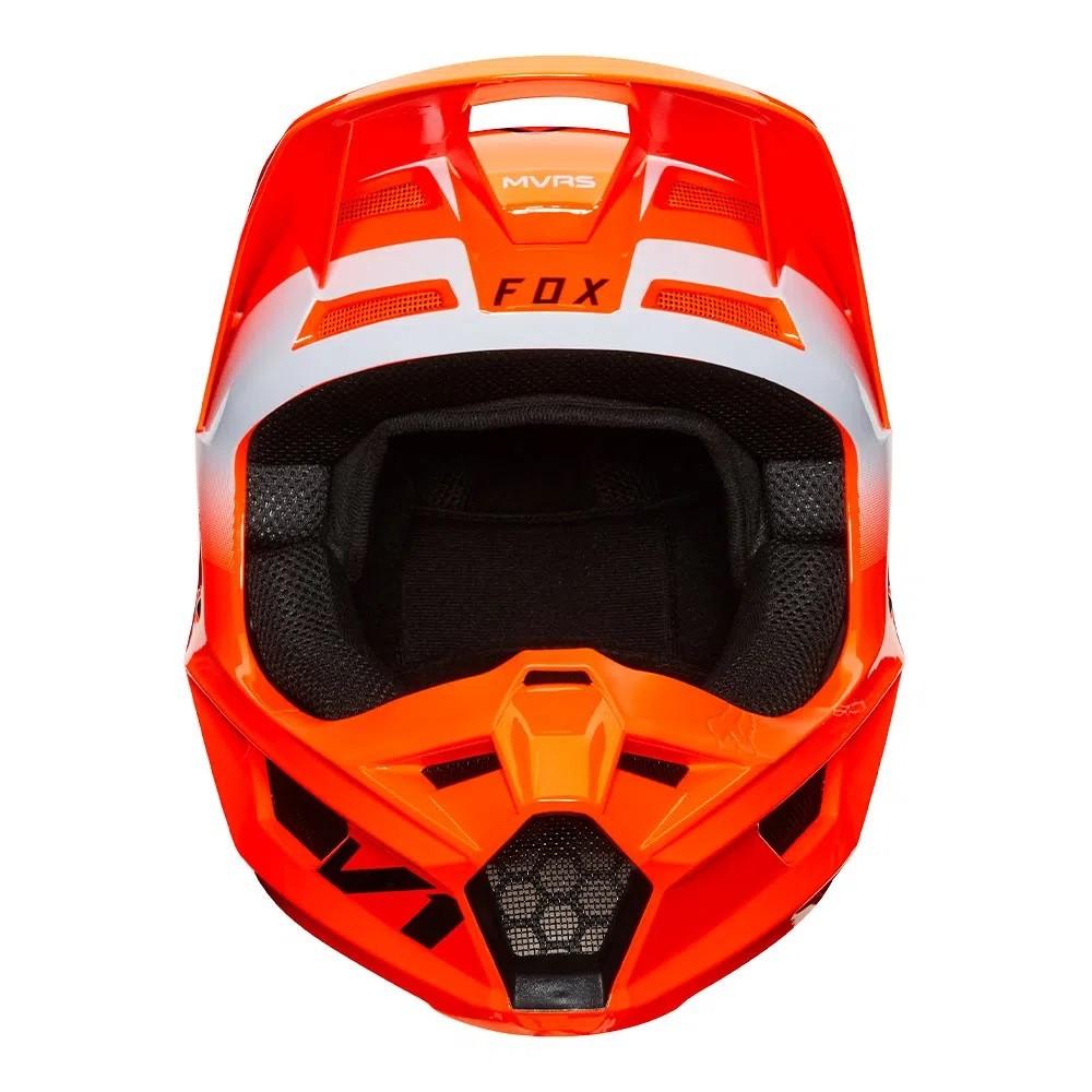 Capacete FOX V1 MVRS WERD - Laranja