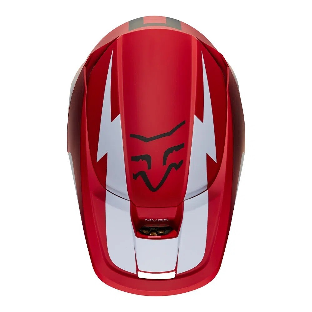 Capacete FOX V1 MVRS WERD - Vermelho